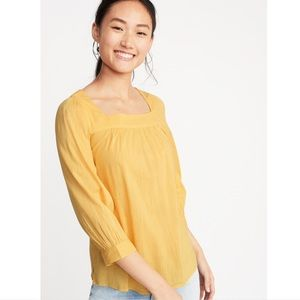 Yellow long-sleeved Old Navy top, NWT